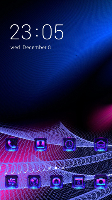 Fantasy blue theme mesh abstract wallpaper