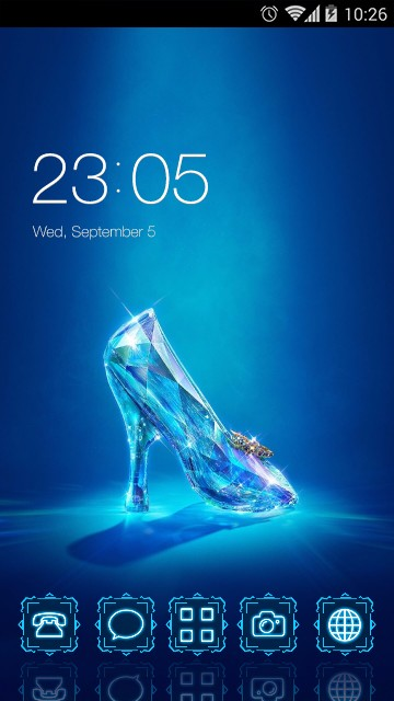Crystal Blue High Heel Theme