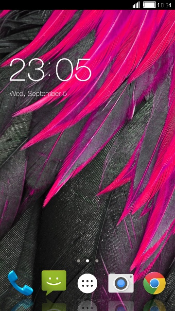 Abstract Pink Feather Theme for Lava Iris Atom 3