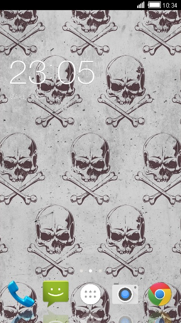 Skull Wallpaper & Theme for Karbonn A15+