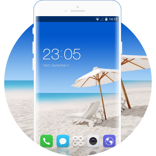Vivo Y15 free android theme – U launcher 3D