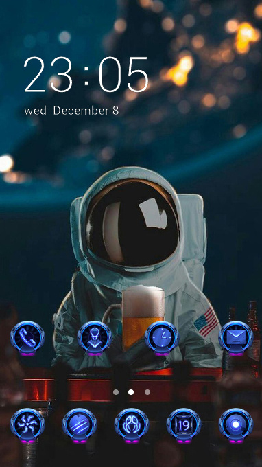 astronaut dark theme