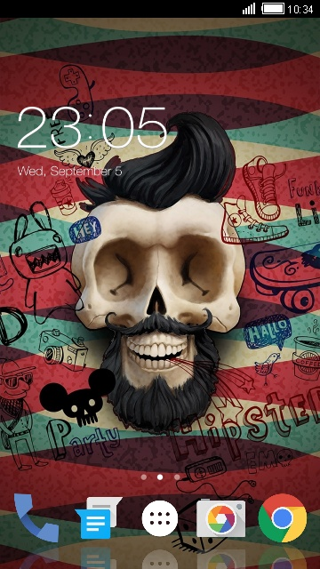 Comic Skull Theme for Lava Iris 405+