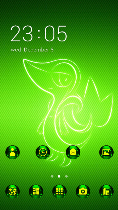 Fantasy sci-fi theme green poultry wallpaper