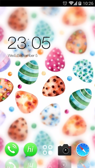 Cute candy theme: Colorful Easter Eggs Wallpaper