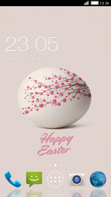 Theme for Micromax Bolt A71: Happy Easter