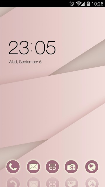 Stylish Pink Theme: Simple Lines Wallpaper