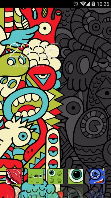 Abstract Cartoon Theme: Cute Monster Wallpaper