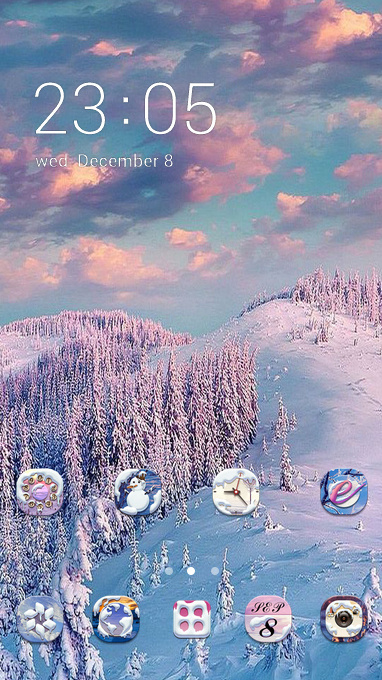forest snow theme