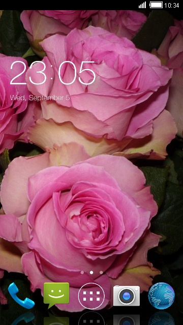 Theme for iBall Andi 4.5q: Pink Rose Wallpaper