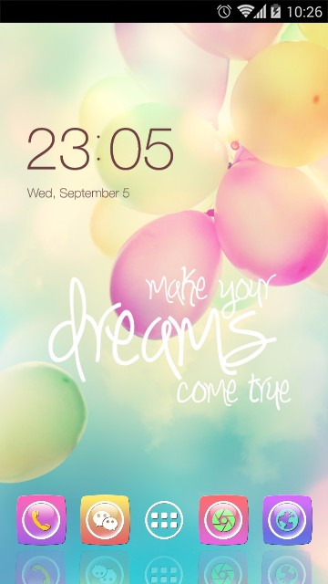Pink balloon theme for samsung