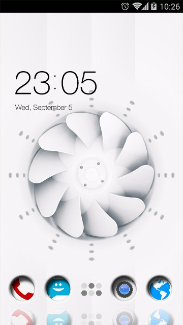 white Spinner Theme Pure Background