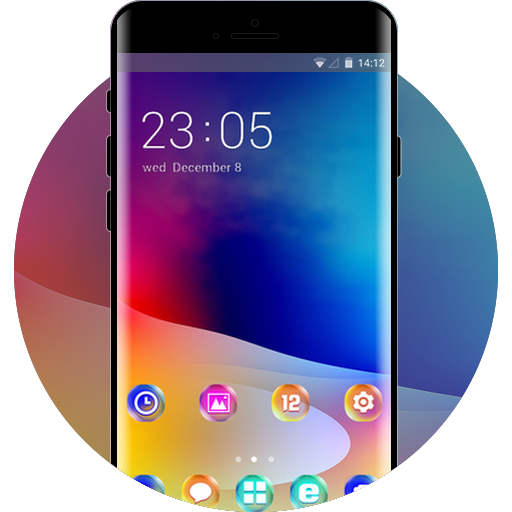Blackberry Evolve free android theme – U launcher 3D