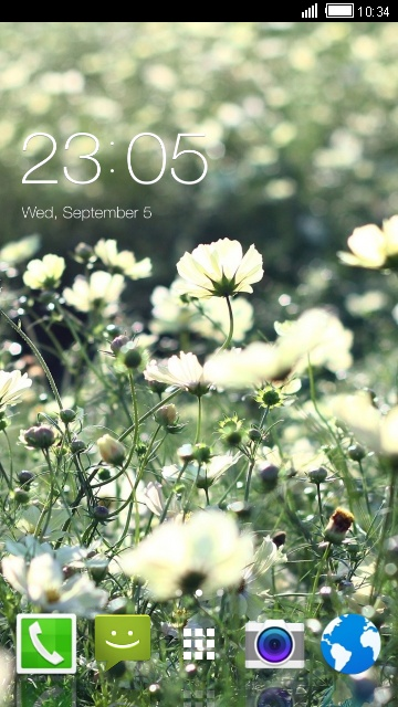 Theme for iBall Andi Wink 4G Summer flower LWP