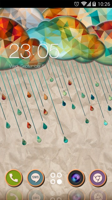 Colourful Cartoon Theme Raining Wallpaper