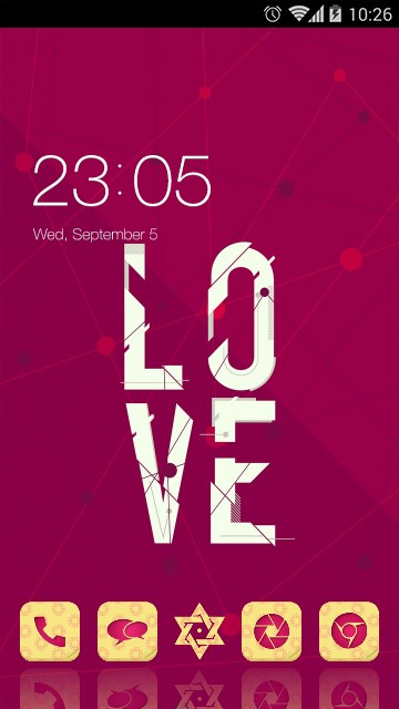 Love Theme Red Poster Wallpaper