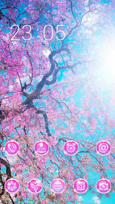 flower theme hanami blossom festival wallpaper
