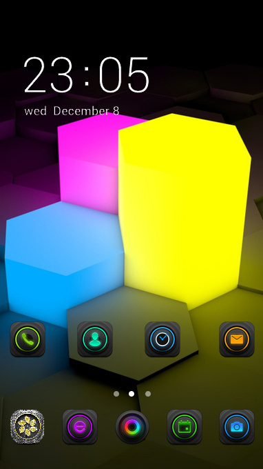 Neon theme figurines lights surface 3d wallpaper