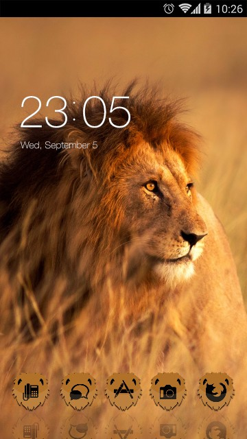 Animal Theme: Lion for Huawei