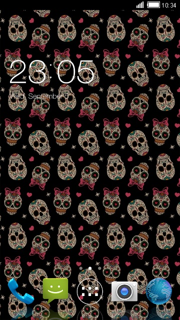 Theme for Intex Cloud String HD Skull Wallpaper