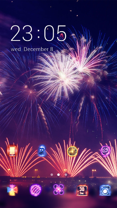 Neon theme colorful fireworks wallpaper