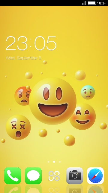 Theme for iPhone 7 Plus: Emoji Wallpaper HD