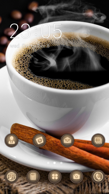 Coffee theme table grains saucer cup wallpaper