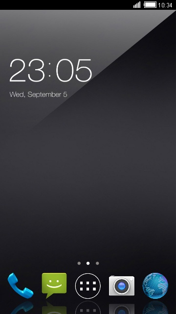 Theme for Micromax Canvas Doodle 4: Cool Black
