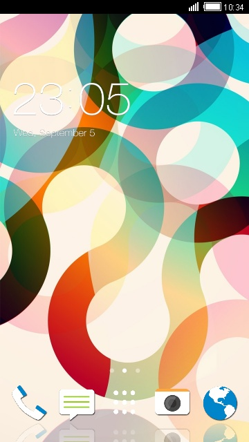 Abstract Minimal Theme for HTC Desire 820G
