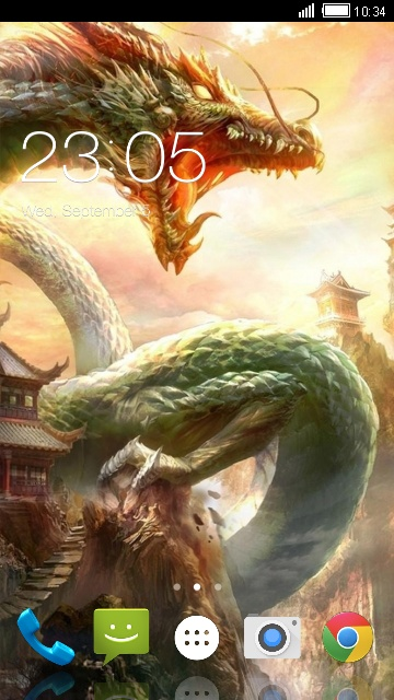 Theme for Spice XLife 404 Dragon Wallpaper