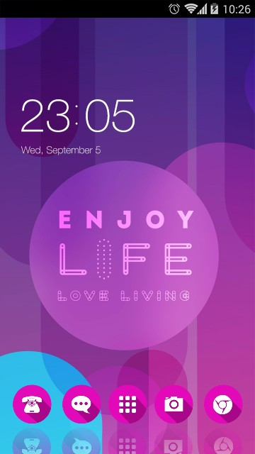 Simple Purple Theme: Love quotes Wallpaper