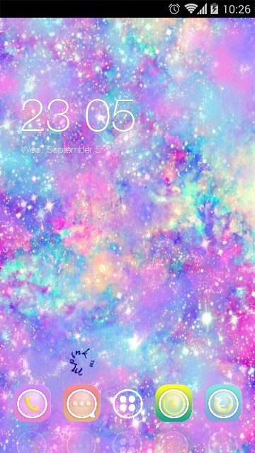 Neon Glitter Theme for Samsung