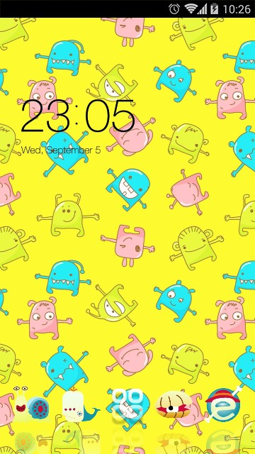 Yellow Cartoon Theme Monster Live Wallpaper
