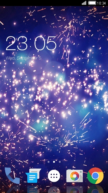 Spark Live Wallpaper & Theme for Lava 3G 402