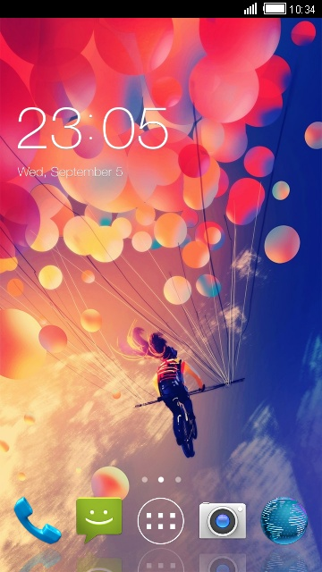 Pink  Balloon Theme for Micromax Bolt A37