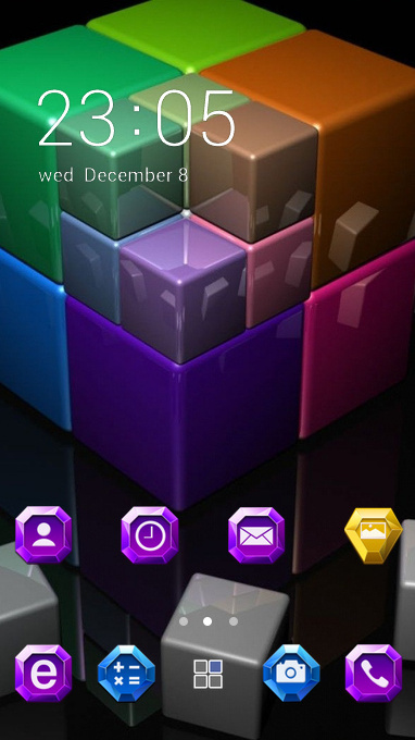 colorful cubes theme