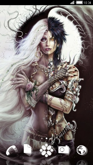 Image Ange Et Demon download ange et demon theme for your android phone — clauncher