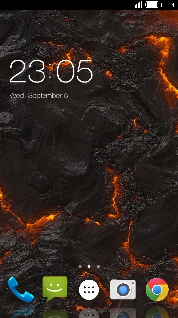 Theme for Intex Aqua Strong 5.2 lava flow lwp