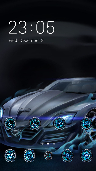 Tech theme car technology wallpaper