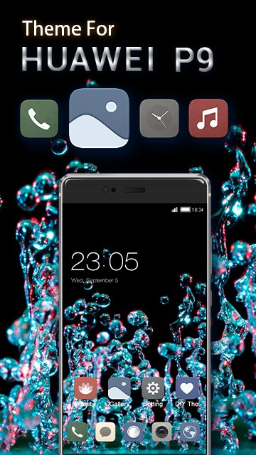 Theme for Huawei P9: Waterdrop