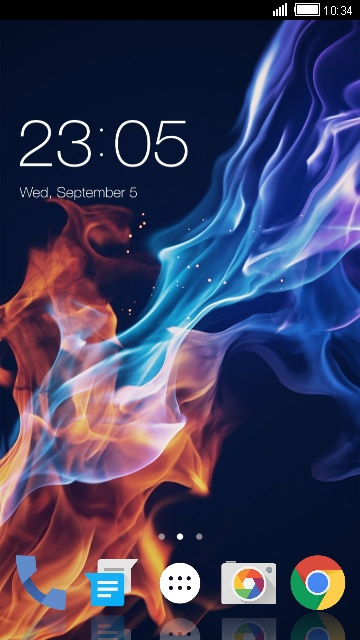 Colored Flame Theme for Lava Iris 350
