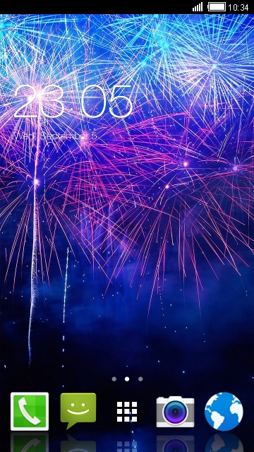 Firework Live Wallpaper for Karbonn Titanium Mach
