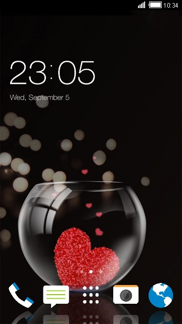Theme for HTC Desire 826 Heart Wallpaper