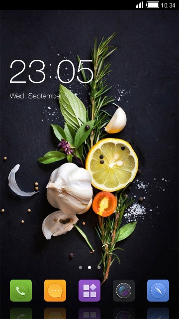 Theme for Gionee X1s Food Wallpaper