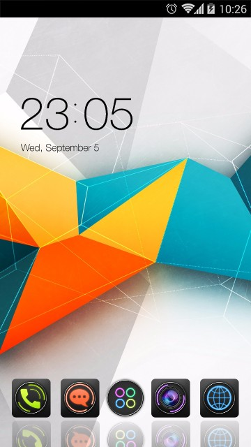 Cool Modern Launcher Colorful Polygon Theme