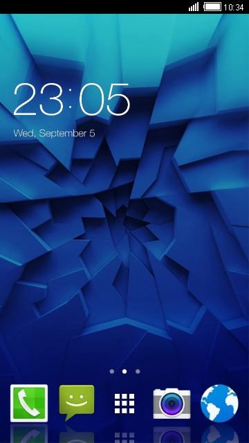 Cool Blue Theme for Micromax Canvas Infinity