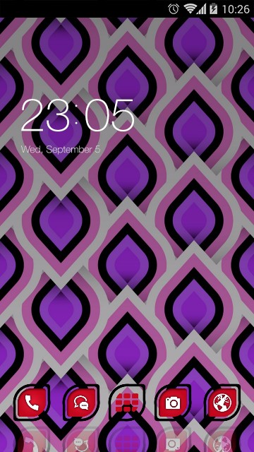 abstract purple drawing