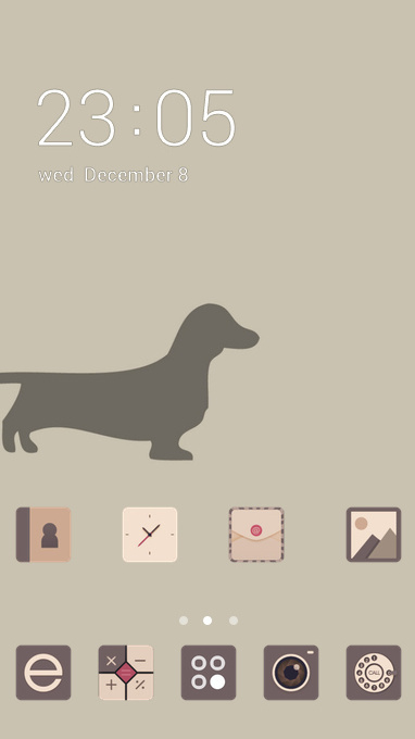 Animal theme dachshund dog minimalism wallpaper