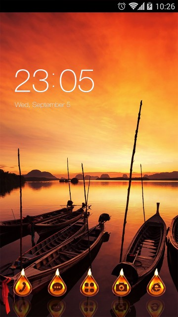 Landscape Launcher Theme Sunset Wallpaper
