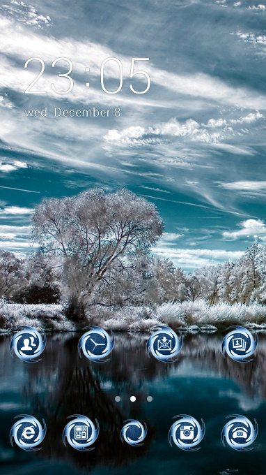 Nature theme lake winter snow wallpaper